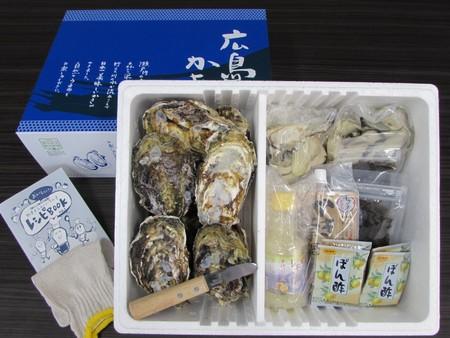 生食用 かき祭りセットA(殻付きかき10個・むき身600g(300g×2袋)・土手鍋用みそ・レモン果汁・もずく)